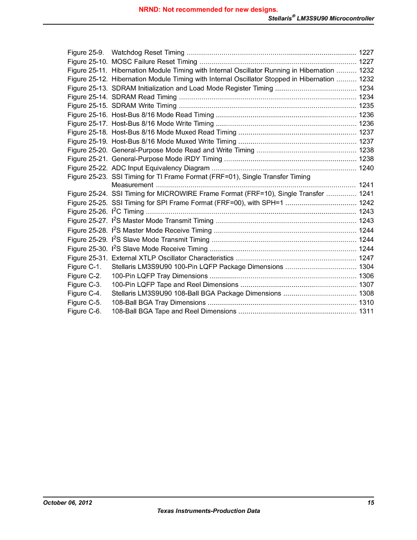 LM3S9U90 ,Texas Instruments厂商,Stellaris LM3S Microcontroller 108-NFBGA -40 to 85, LM3S9U90 datasheet预览  第15页