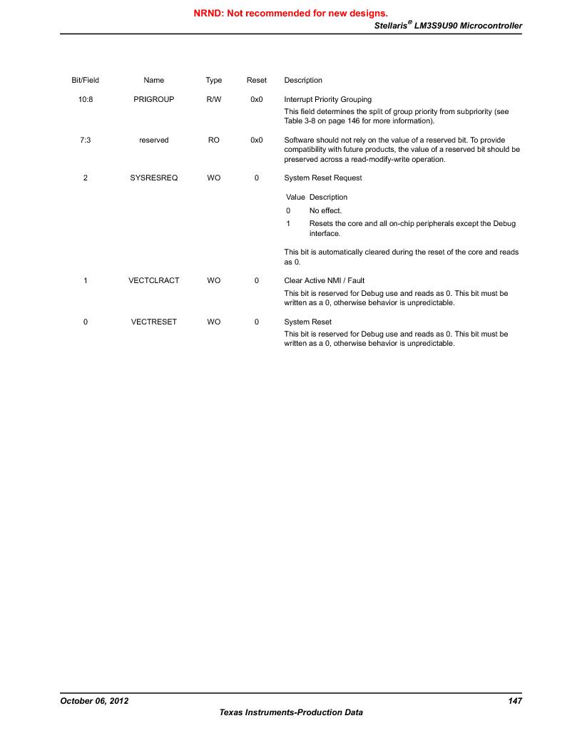 LM3S9U90 ,Texas Instruments厂商,Stellaris LM3S Microcontroller 108-NFBGA -40 to 85, LM3S9U90 datasheet预览  第147页