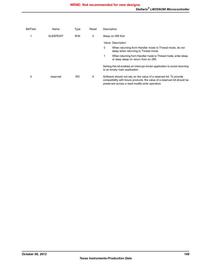LM3S9U90 ,Texas Instruments厂商,Stellaris LM3S Microcontroller 108-NFBGA -40 to 85, LM3S9U90 datasheet预览  第149页