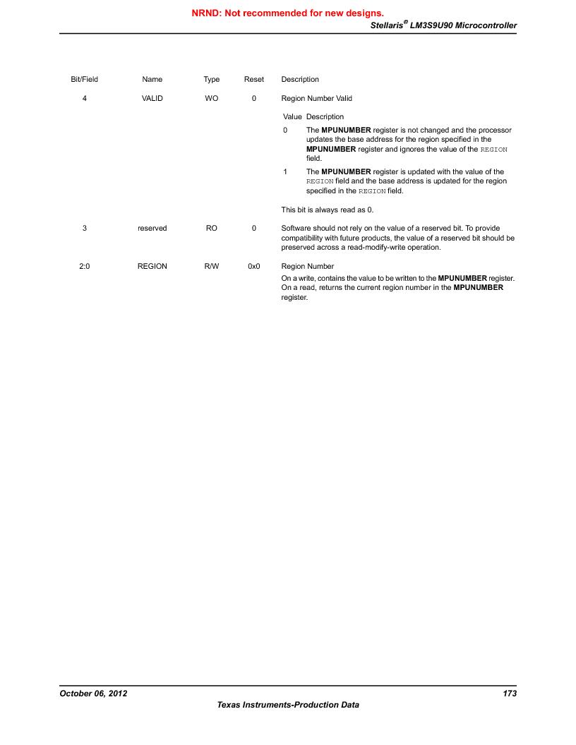 LM3S9U90 ,Texas Instruments厂商,Stellaris LM3S Microcontroller 108-NFBGA -40 to 85, LM3S9U90 datasheet预览  第173页