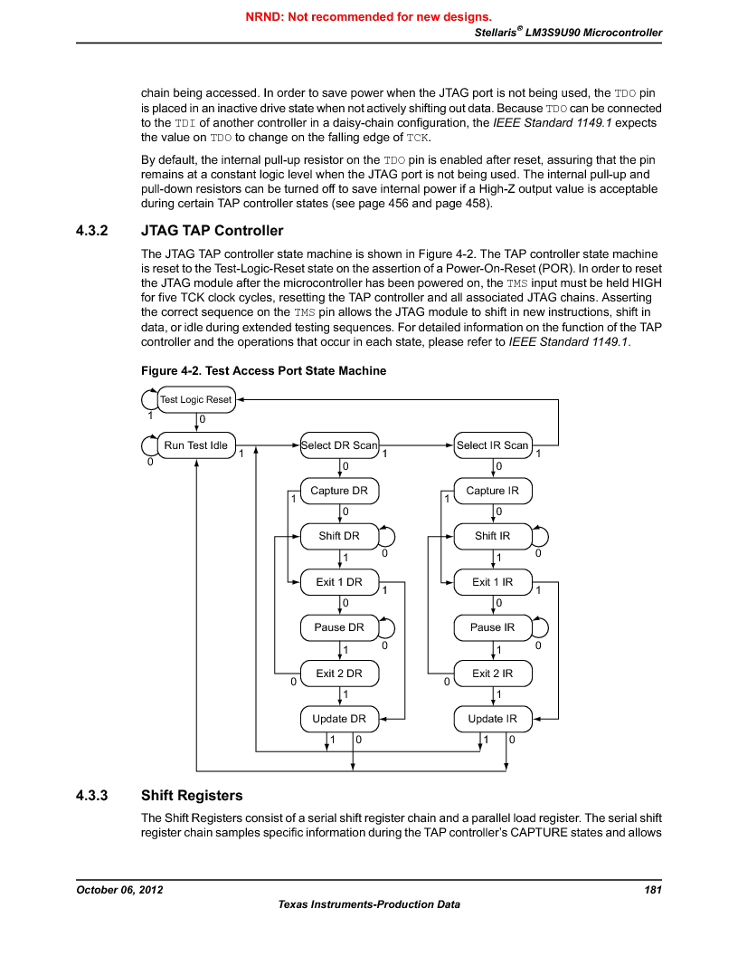 LM3S9U90 ,Texas Instruments厂商,Stellaris LM3S Microcontroller 108-NFBGA -40 to 85, LM3S9U90 datasheet预览  第181页