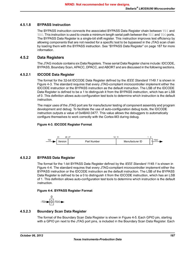 LM3S9U90 ,Texas Instruments厂商,Stellaris LM3S Microcontroller 108-NFBGA -40 to 85, LM3S9U90 datasheet预览  第187页