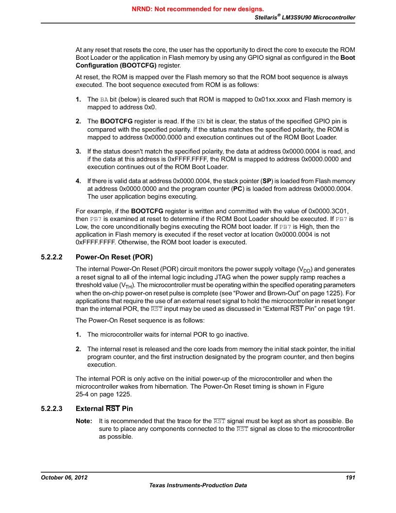 LM3S9U90 ,Texas Instruments厂商,Stellaris LM3S Microcontroller 108-NFBGA -40 to 85, LM3S9U90 datasheet预览  第191页