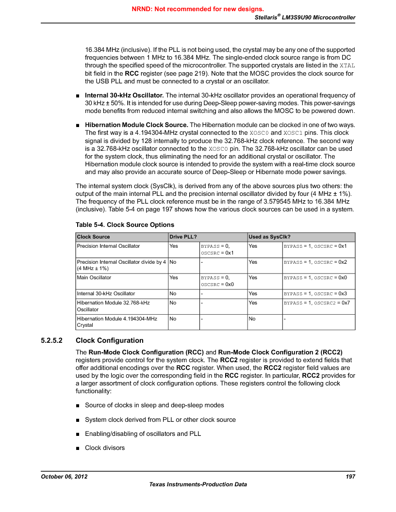 LM3S9U90 ,Texas Instruments厂商,Stellaris LM3S Microcontroller 108-NFBGA -40 to 85, LM3S9U90 datasheet预览  第197页