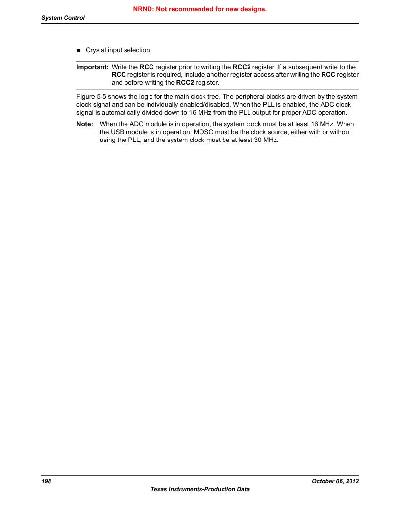 LM3S9U90 ,Texas Instruments厂商,Stellaris LM3S Microcontroller 108-NFBGA -40 to 85, LM3S9U90 datasheet预览  第198页