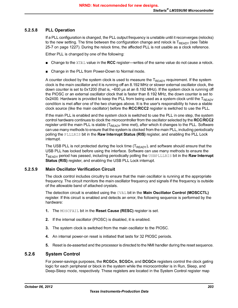 LM3S9U90 ,Texas Instruments厂商,Stellaris LM3S Microcontroller 108-NFBGA -40 to 85, LM3S9U90 datasheet预览  第203页