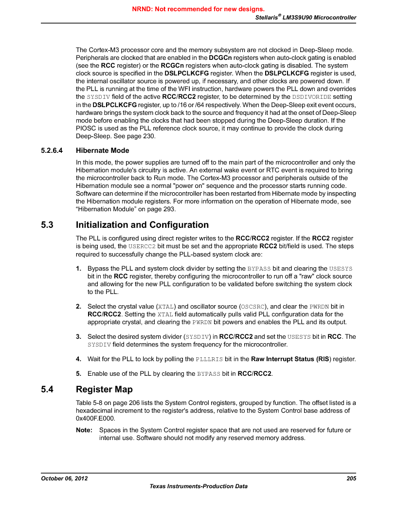 LM3S9U90 ,Texas Instruments厂商,Stellaris LM3S Microcontroller 108-NFBGA -40 to 85, LM3S9U90 datasheet预览  第205页