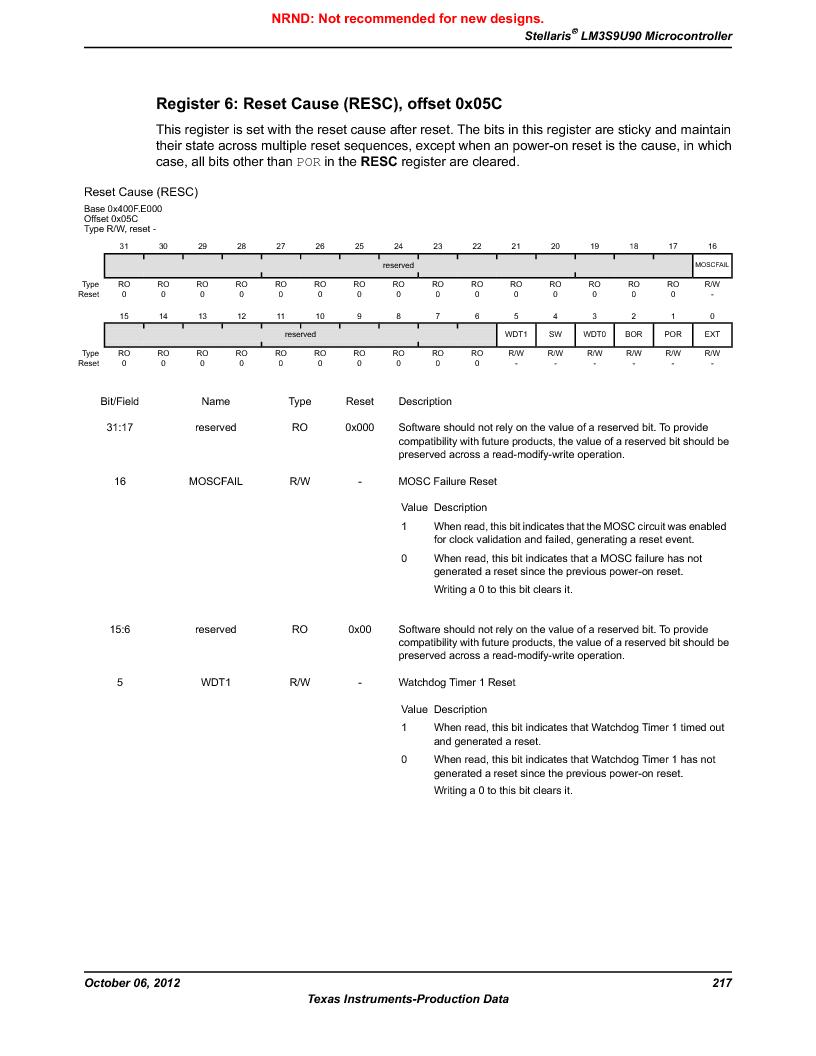 LM3S9U90 ,Texas Instruments厂商,Stellaris LM3S Microcontroller 108-NFBGA -40 to 85, LM3S9U90 datasheet预览  第217页