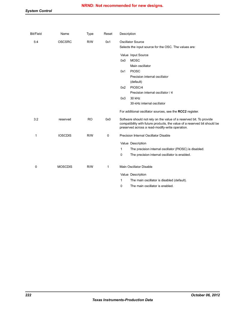 LM3S9U90 ,Texas Instruments厂商,Stellaris LM3S Microcontroller 108-NFBGA -40 to 85, LM3S9U90 datasheet预览  第222页