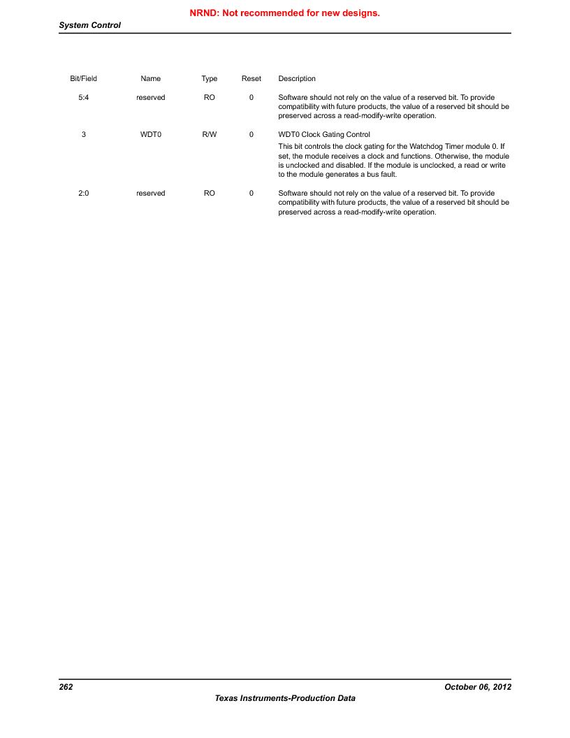 LM3S9U90 ,Texas Instruments厂商,Stellaris LM3S Microcontroller 108-NFBGA -40 to 85, LM3S9U90 datasheet预览  第262页