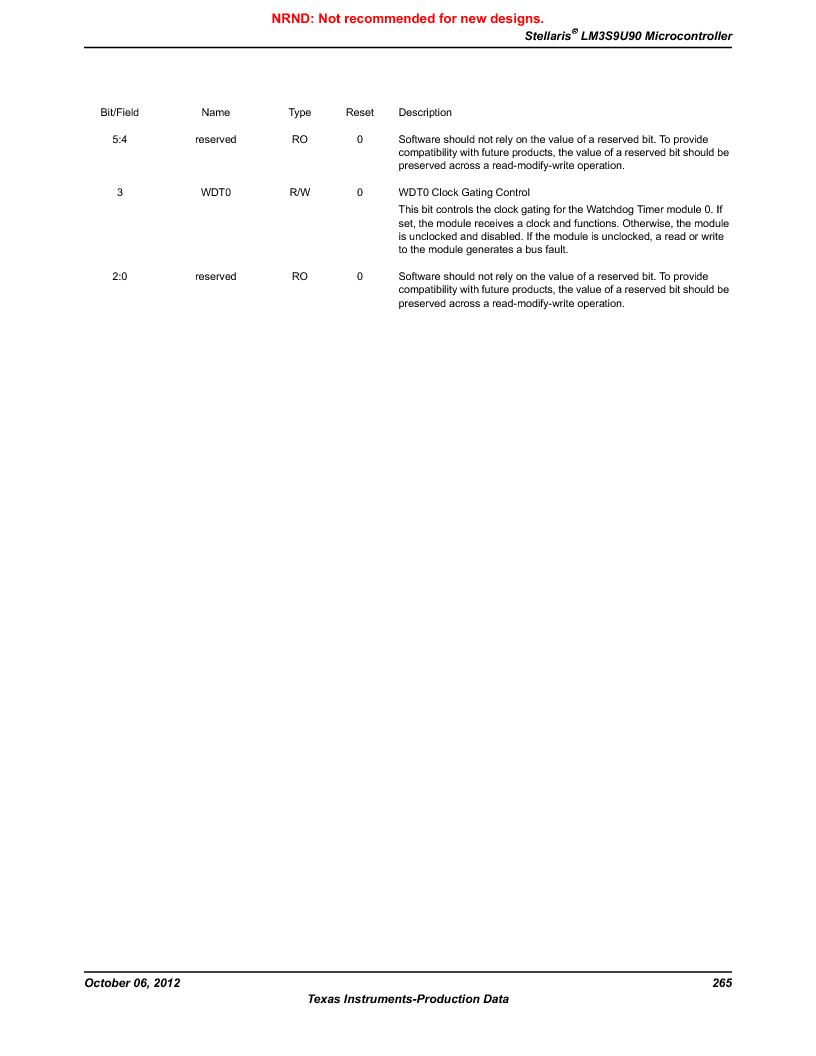 LM3S9U90 ,Texas Instruments厂商,Stellaris LM3S Microcontroller 108-NFBGA -40 to 85, LM3S9U90 datasheet预览  第265页