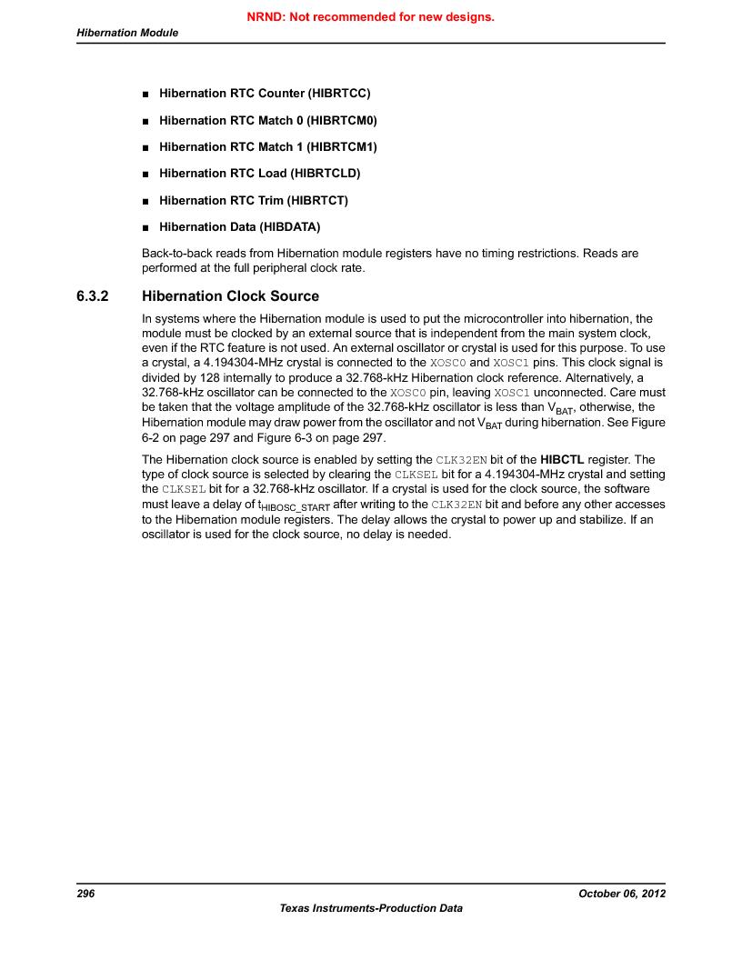 LM3S9U90 ,Texas Instruments厂商,Stellaris LM3S Microcontroller 108-NFBGA -40 to 85, LM3S9U90 datasheet预览  第296页