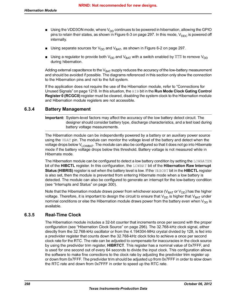 LM3S9U90 ,Texas Instruments厂商,Stellaris LM3S Microcontroller 108-NFBGA -40 to 85, LM3S9U90 datasheet预览  第298页