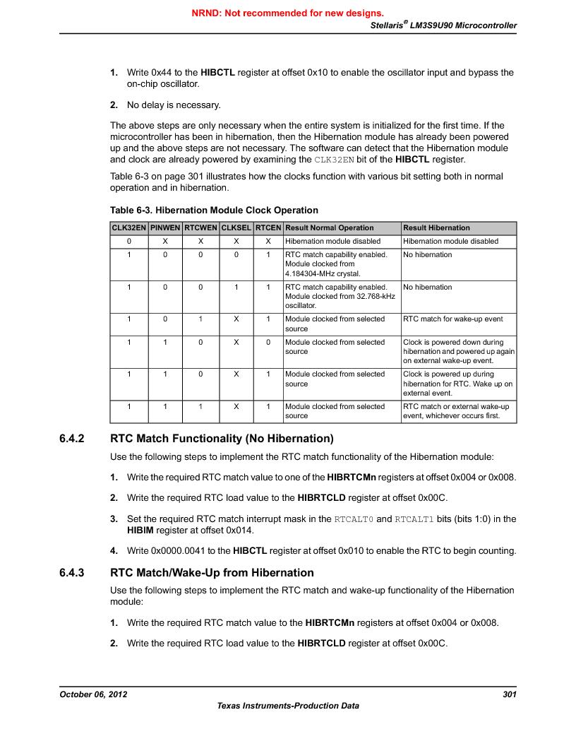 LM3S9U90 ,Texas Instruments厂商,Stellaris LM3S Microcontroller 108-NFBGA -40 to 85, LM3S9U90 datasheet预览  第301页