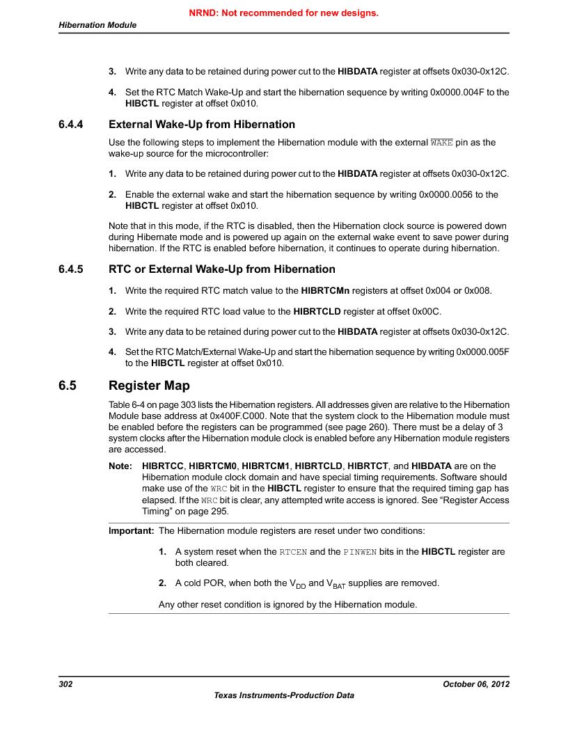 LM3S9U90 ,Texas Instruments厂商,Stellaris LM3S Microcontroller 108-NFBGA -40 to 85, LM3S9U90 datasheet预览  第302页
