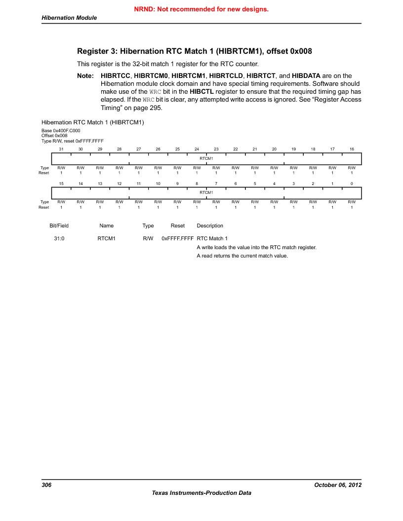 LM3S9U90 ,Texas Instruments厂商,Stellaris LM3S Microcontroller 108-NFBGA -40 to 85, LM3S9U90 datasheet预览  第306页