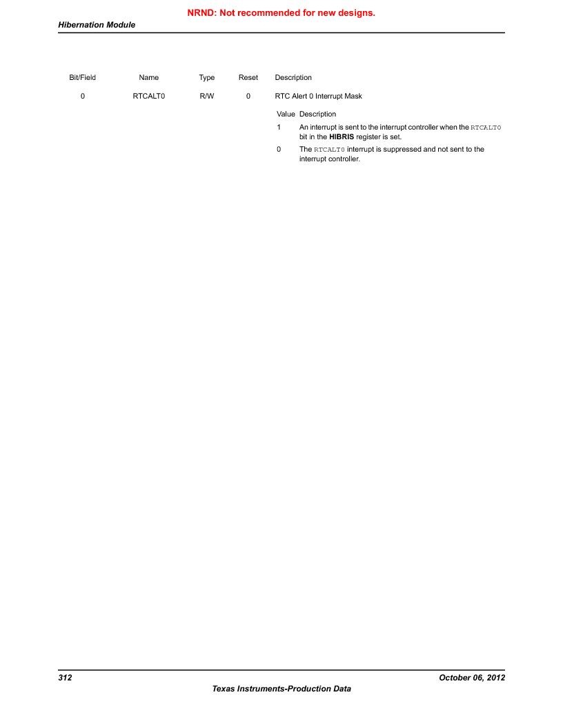 LM3S9U90 ,Texas Instruments厂商,Stellaris LM3S Microcontroller 108-NFBGA -40 to 85, LM3S9U90 datasheet预览  第312页