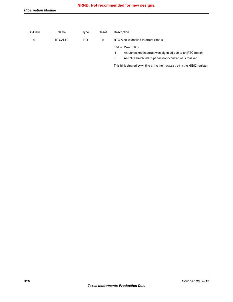 LM3S9U90 ,Texas Instruments厂商,Stellaris LM3S Microcontroller 108-NFBGA -40 to 85, LM3S9U90 datasheet预览  第316页