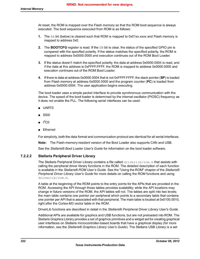 LM3S9U90 ,Texas Instruments厂商,Stellaris LM3S Microcontroller 108-NFBGA -40 to 85, LM3S9U90 datasheet预览  第322页