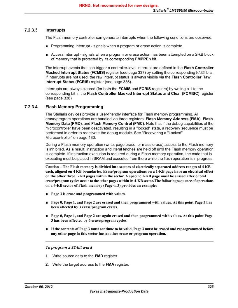LM3S9U90 ,Texas Instruments厂商,Stellaris LM3S Microcontroller 108-NFBGA -40 to 85, LM3S9U90 datasheet预览  第325页