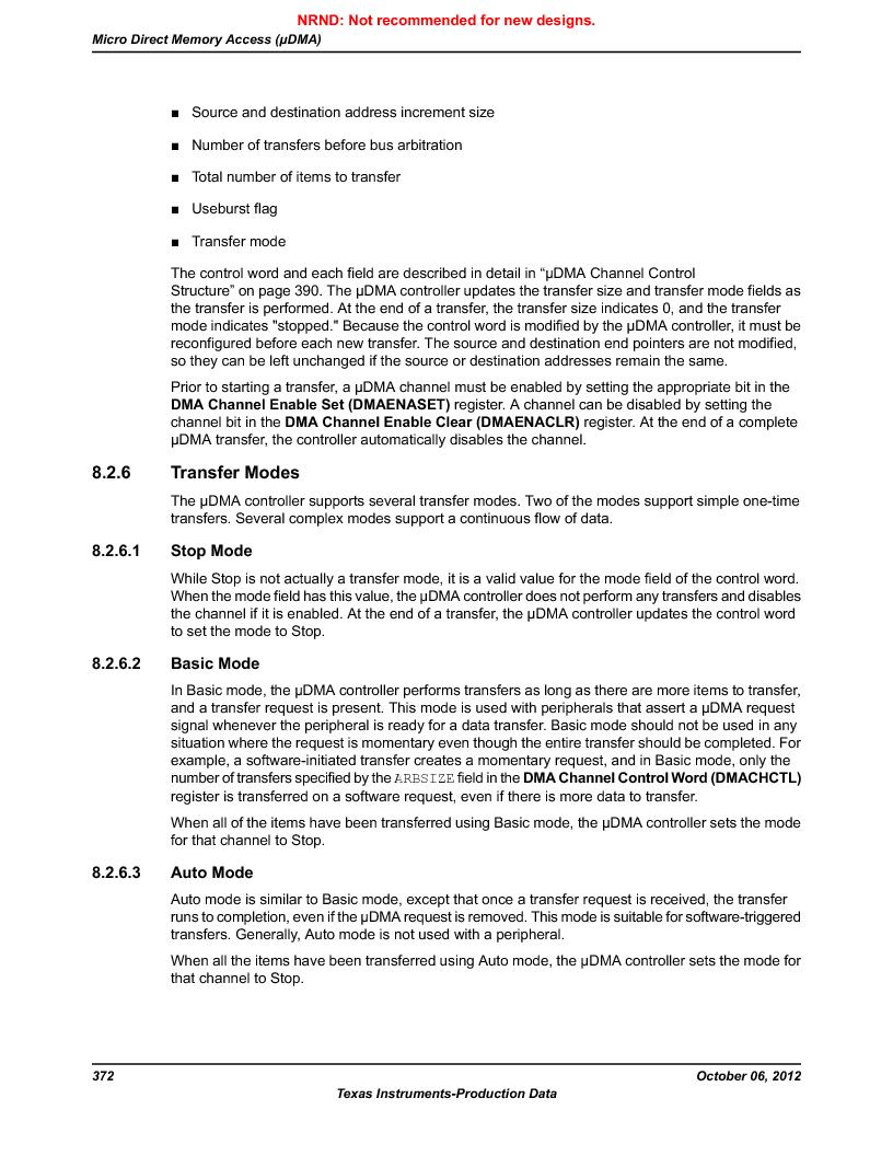 LM3S9U90 ,Texas Instruments厂商,Stellaris LM3S Microcontroller 108-NFBGA -40 to 85, LM3S9U90 datasheet预览  第372页