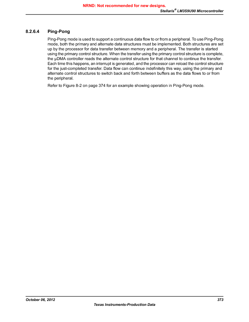 LM3S9U90 ,Texas Instruments厂商,Stellaris LM3S Microcontroller 108-NFBGA -40 to 85, LM3S9U90 datasheet预览  第373页