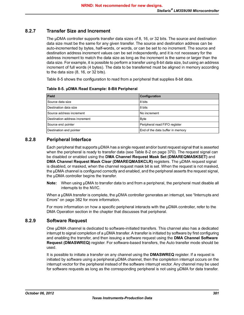 LM3S9U90 ,Texas Instruments厂商,Stellaris LM3S Microcontroller 108-NFBGA -40 to 85, LM3S9U90 datasheet预览  第381页