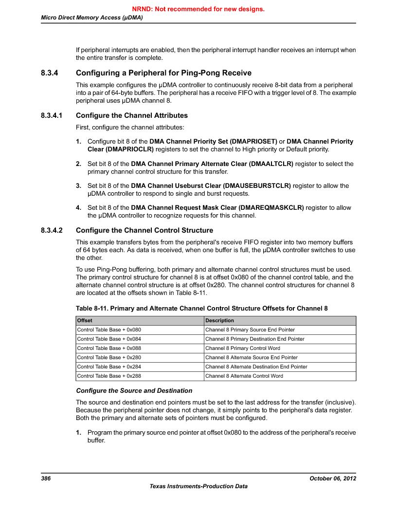 LM3S9U90 ,Texas Instruments厂商,Stellaris LM3S Microcontroller 108-NFBGA -40 to 85, LM3S9U90 datasheet预览  第386页