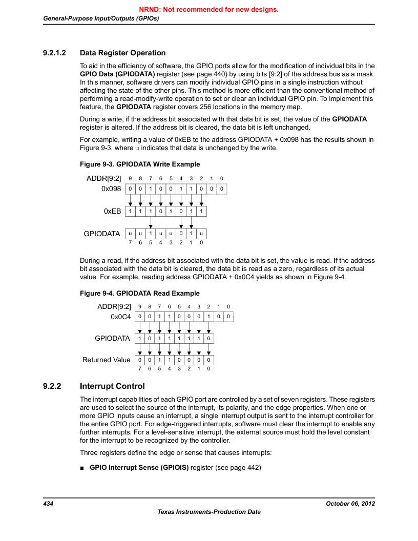 LM3S9U90 ,Texas Instruments厂商,Stellaris LM3S Microcontroller 108-NFBGA -40 to 85, LM3S9U90 datasheet预览  第434页