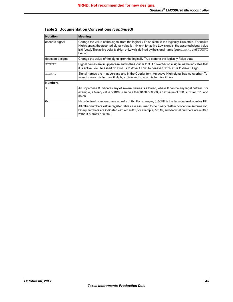 LM3S9U90 ,Texas Instruments厂商,Stellaris LM3S Microcontroller 108-NFBGA -40 to 85, LM3S9U90 datasheet预览  第45页