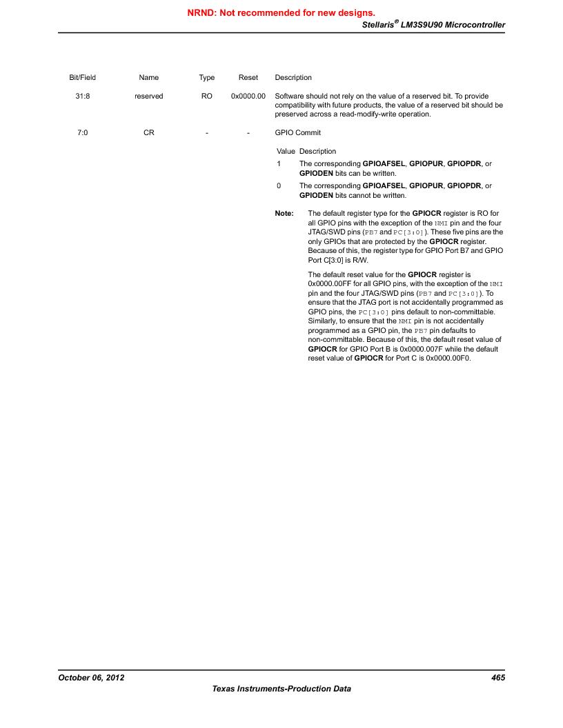 LM3S9U90 ,Texas Instruments厂商,Stellaris LM3S Microcontroller 108-NFBGA -40 to 85, LM3S9U90 datasheet预览  第465页