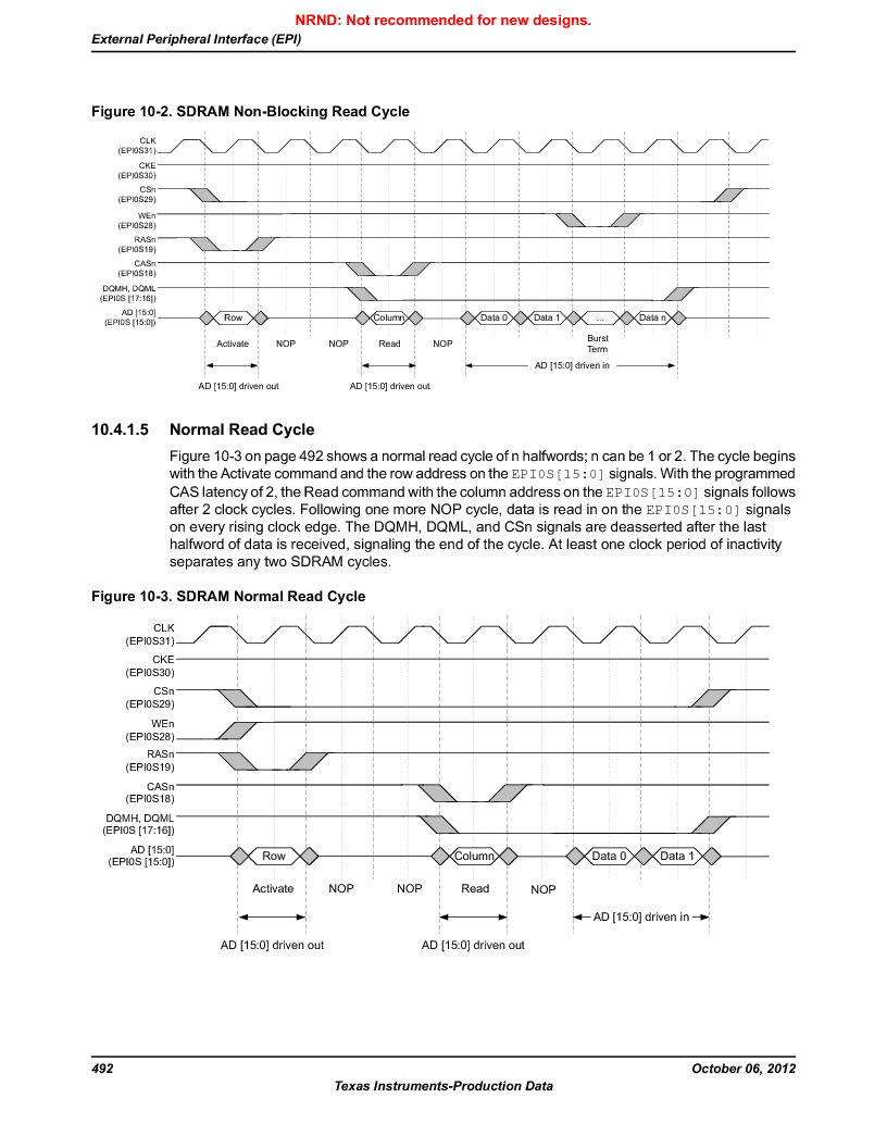 LM3S9U90 ,Texas Instruments厂商,Stellaris LM3S Microcontroller 108-NFBGA -40 to 85, LM3S9U90 datasheet预览  第492页