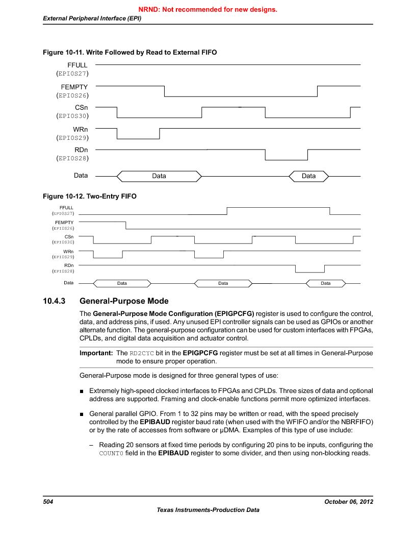 LM3S9U90 ,Texas Instruments厂商,Stellaris LM3S Microcontroller 108-NFBGA -40 to 85, LM3S9U90 datasheet预览  第504页