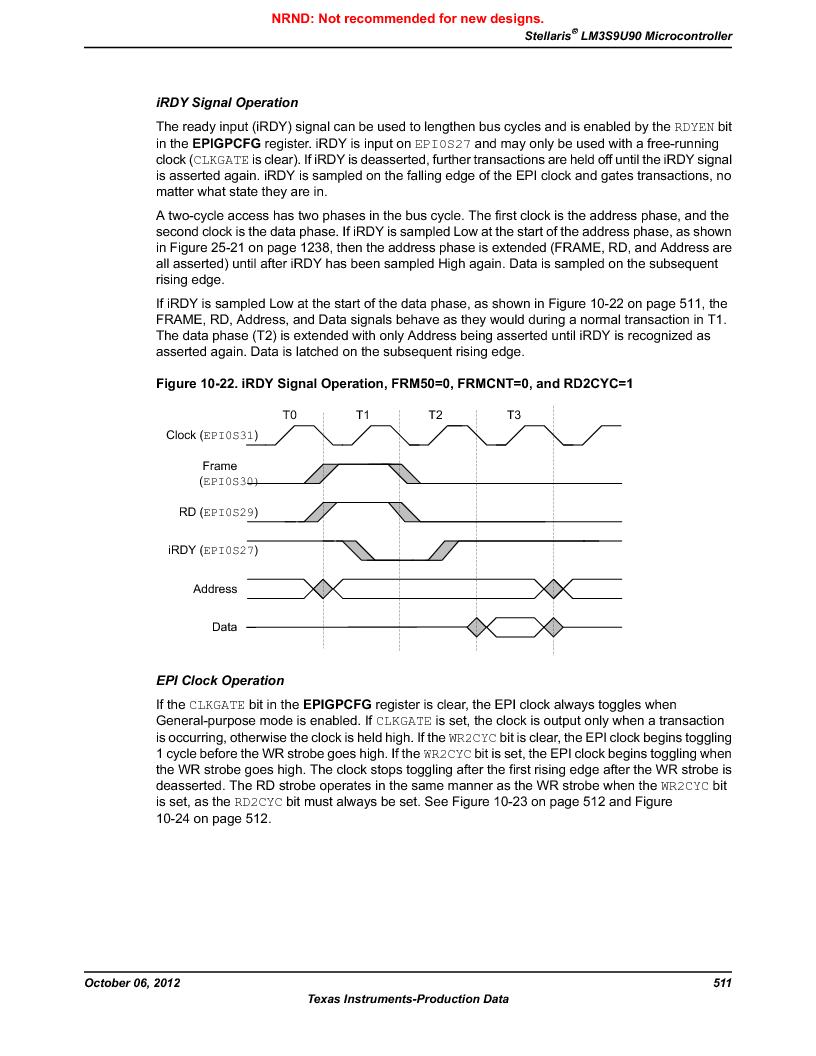 LM3S9U90 ,Texas Instruments厂商,Stellaris LM3S Microcontroller 108-NFBGA -40 to 85, LM3S9U90 datasheet预览  第511页