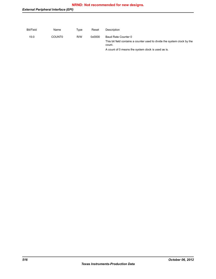 LM3S9U90 ,Texas Instruments厂商,Stellaris LM3S Microcontroller 108-NFBGA -40 to 85, LM3S9U90 datasheet预览  第516页