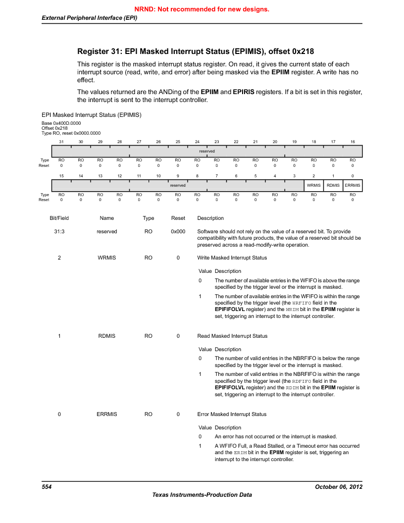 LM3S9U90 ,Texas Instruments厂商,Stellaris LM3S Microcontroller 108-NFBGA -40 to 85, LM3S9U90 datasheet预览  第554页