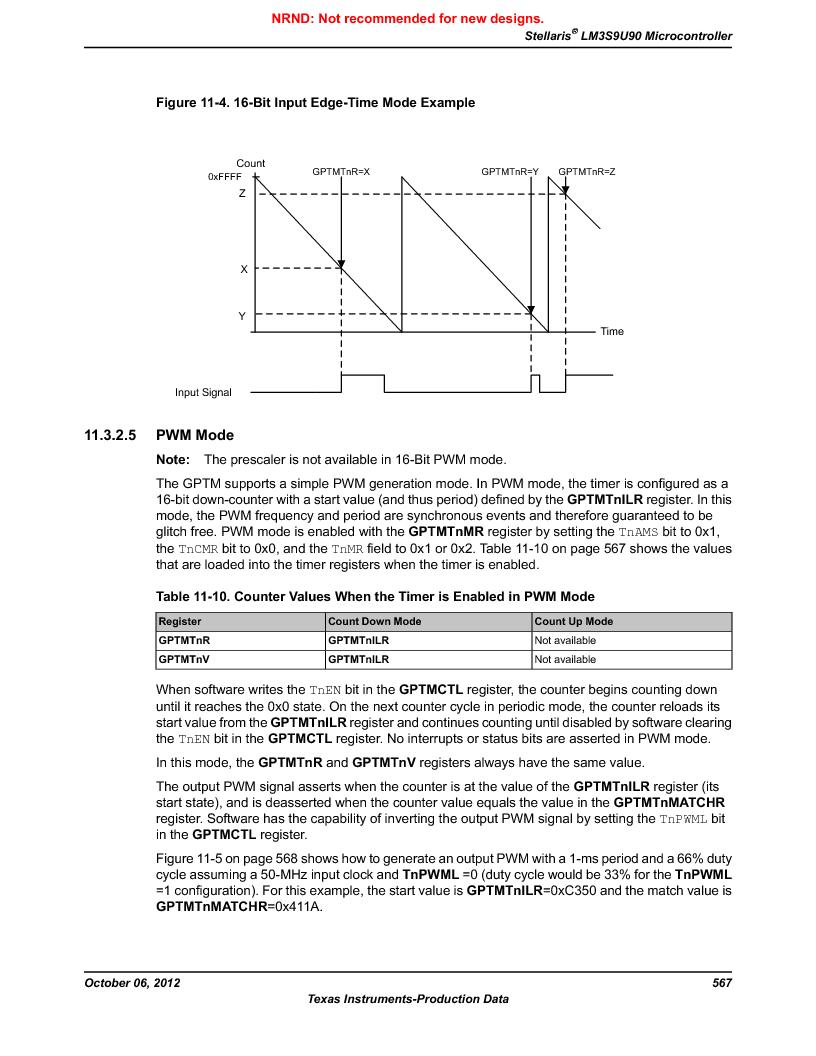LM3S9U90 ,Texas Instruments厂商,Stellaris LM3S Microcontroller 108-NFBGA -40 to 85, LM3S9U90 datasheet预览  第567页