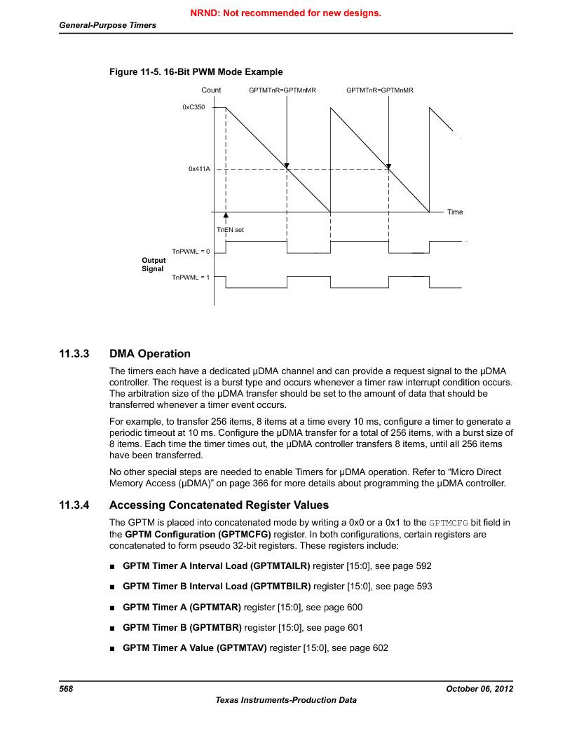 LM3S9U90 ,Texas Instruments厂商,Stellaris LM3S Microcontroller 108-NFBGA -40 to 85, LM3S9U90 datasheet预览  第568页