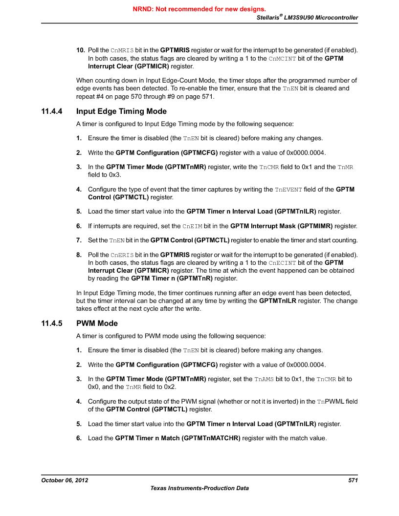 LM3S9U90 ,Texas Instruments厂商,Stellaris LM3S Microcontroller 108-NFBGA -40 to 85, LM3S9U90 datasheet预览  第571页