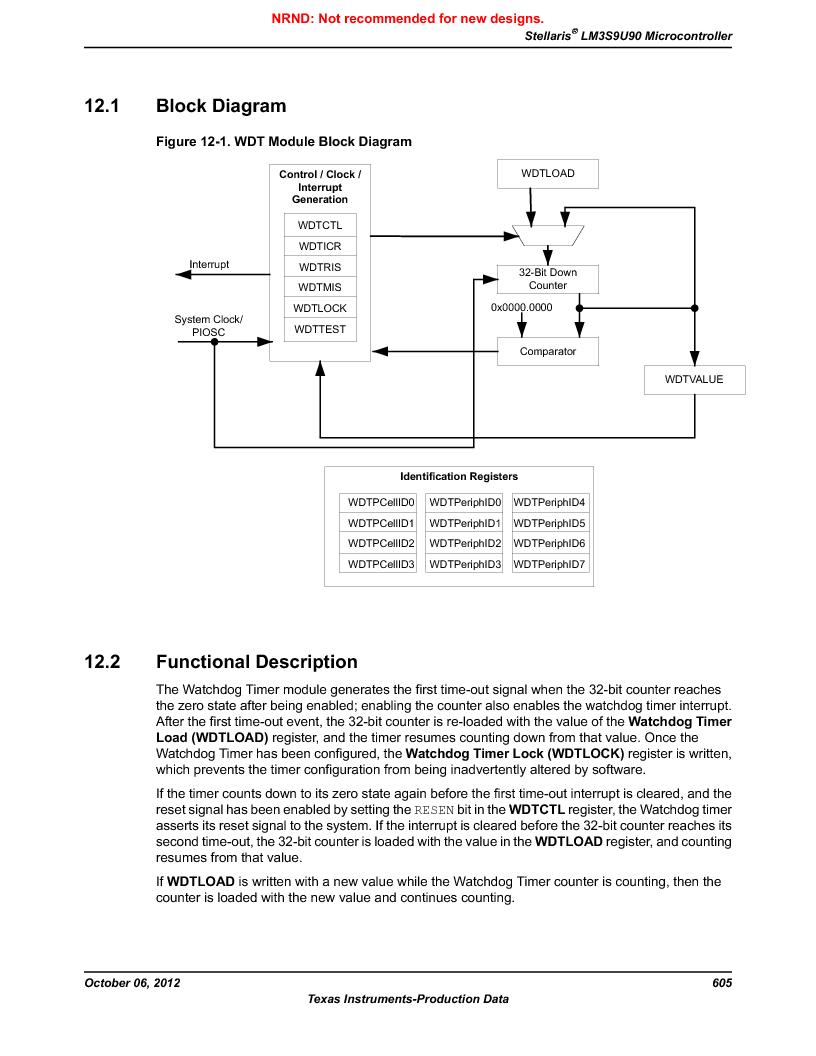 LM3S9U90 ,Texas Instruments厂商,Stellaris LM3S Microcontroller 108-NFBGA -40 to 85, LM3S9U90 datasheet预览  第605页