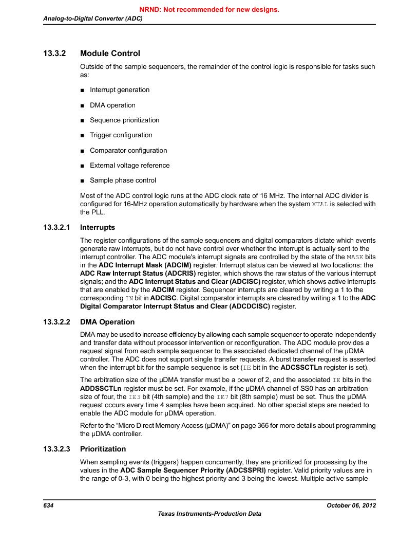 LM3S9U90 ,Texas Instruments厂商,Stellaris LM3S Microcontroller 108-NFBGA -40 to 85, LM3S9U90 datasheet预览  第634页