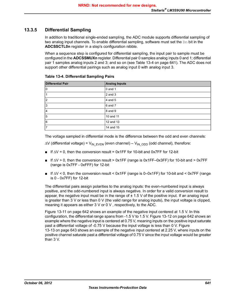LM3S9U90 ,Texas Instruments厂商,Stellaris LM3S Microcontroller 108-NFBGA -40 to 85, LM3S9U90 datasheet预览  第641页