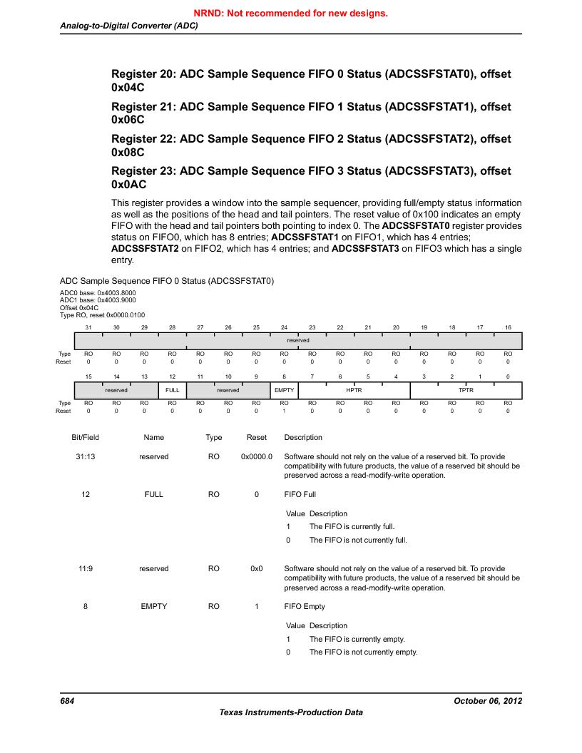 LM3S9U90 ,Texas Instruments厂商,Stellaris LM3S Microcontroller 108-NFBGA -40 to 85, LM3S9U90 datasheet预览  第684页