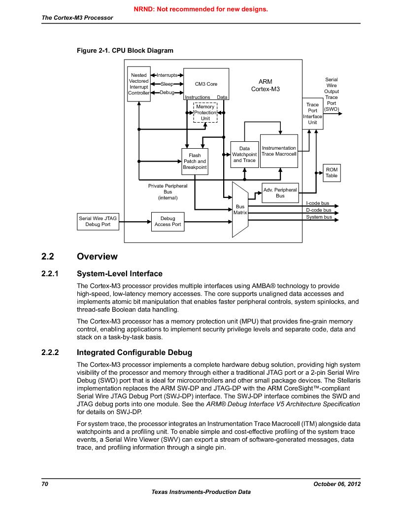 LM3S9U90 ,Texas Instruments厂商,Stellaris LM3S Microcontroller 108-NFBGA -40 to 85, LM3S9U90 datasheet预览  第70页