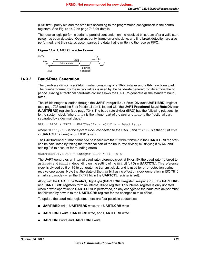 LM3S9U90 ,Texas Instruments厂商,Stellaris LM3S Microcontroller 108-NFBGA -40 to 85, LM3S9U90 datasheet预览  第713页