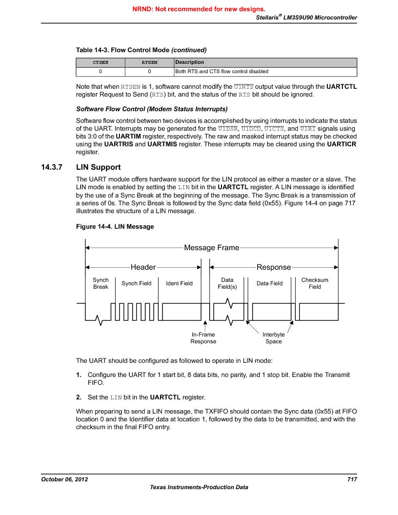 LM3S9U90 ,Texas Instruments厂商,Stellaris LM3S Microcontroller 108-NFBGA -40 to 85, LM3S9U90 datasheet预览  第717页