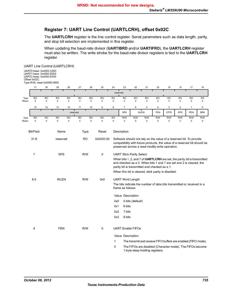 LM3S9U90 ,Texas Instruments厂商,Stellaris LM3S Microcontroller 108-NFBGA -40 to 85, LM3S9U90 datasheet预览  第735页