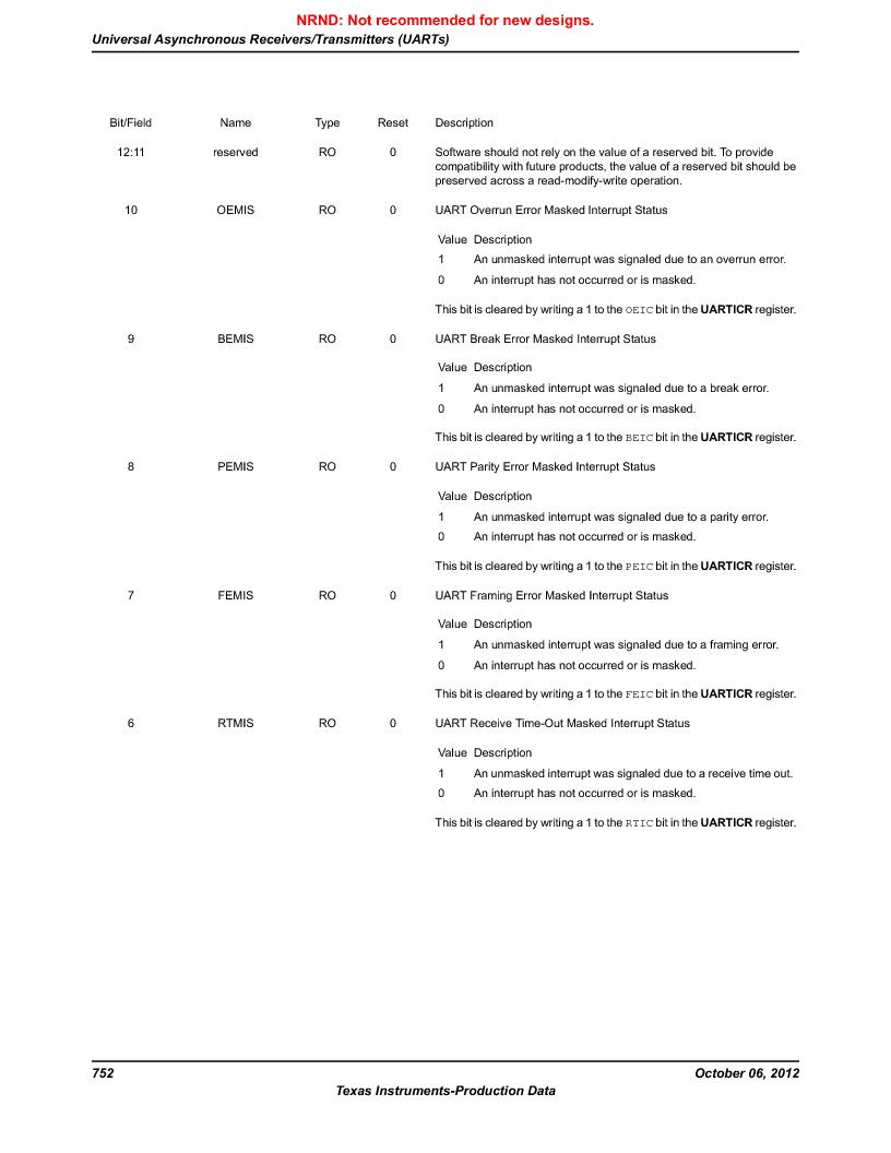LM3S9U90 ,Texas Instruments厂商,Stellaris LM3S Microcontroller 108-NFBGA -40 to 85, LM3S9U90 datasheet预览  第752页