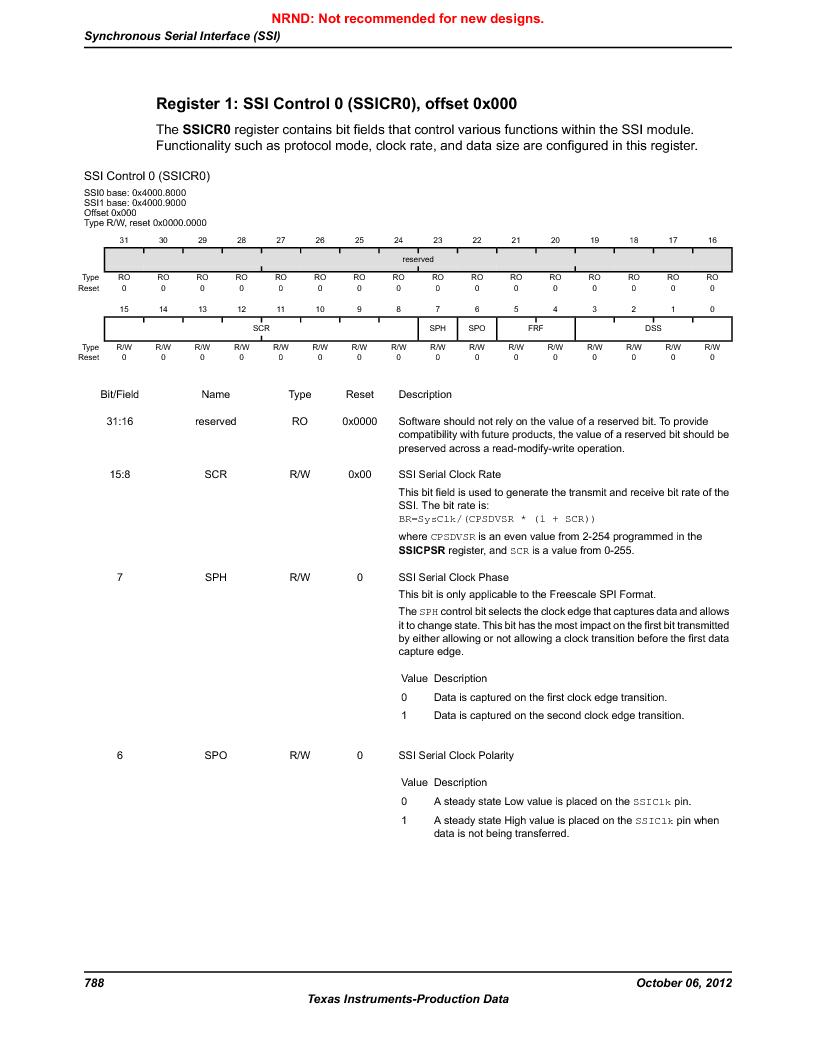 LM3S9U90 ,Texas Instruments厂商,Stellaris LM3S Microcontroller 108-NFBGA -40 to 85, LM3S9U90 datasheet预览  第788页