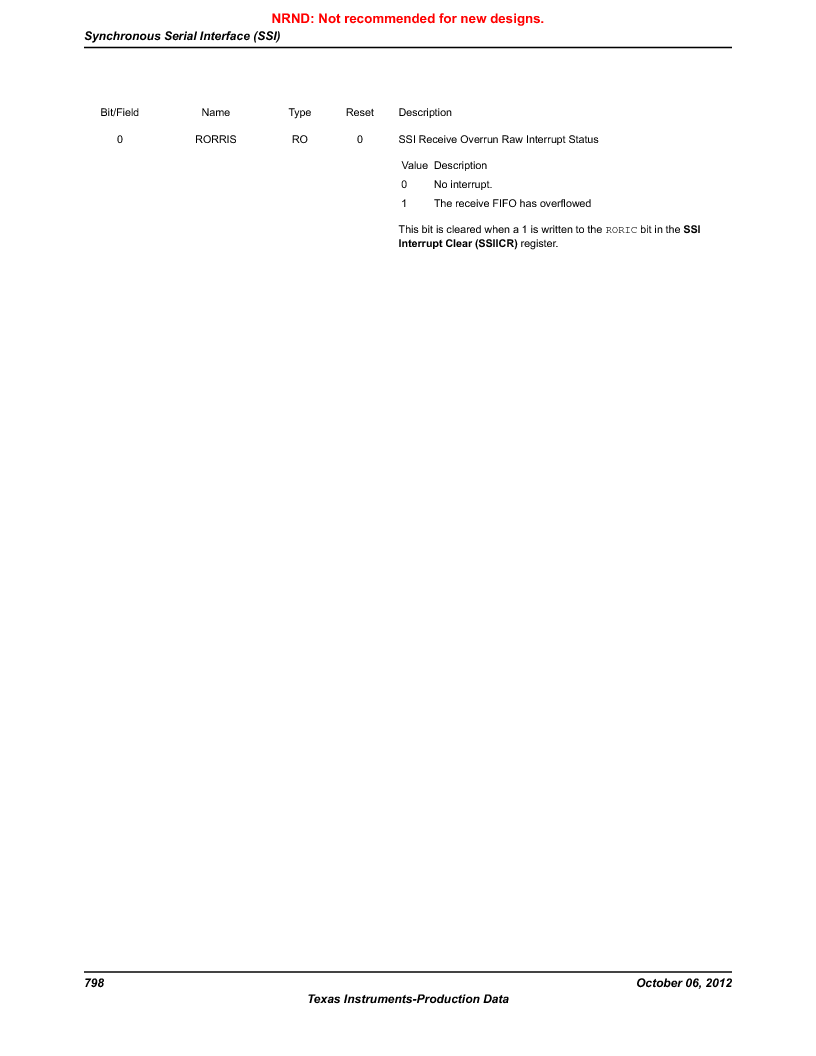 LM3S9U90 ,Texas Instruments厂商,Stellaris LM3S Microcontroller 108-NFBGA -40 to 85, LM3S9U90 datasheet预览  第798页